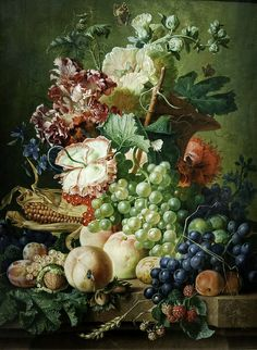 Paul Theodor van Brussel: Still Life with Fruit and Flowers by unbearable lightness, via Flickr
