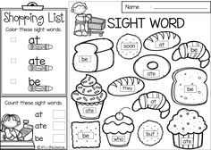 Sight Word Shop is perfect for Preschool, kindergarten and first graders. This product will help children to learn sight word Primer by finding, coloring and counting. This product is also perfect for classroom activities, morning work, word work and literacy centers.