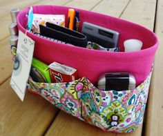 Purse ORGANIZER insert SHAPER / Multi Color by DivideAndConquer, $37.95