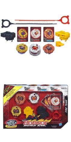 BeyBlade 38323: Beyblade Shogun Steel Battle Tops Fire Team Set -> BUY IT NOW ONLY: $63.25 on eBay!