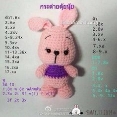 Mesmerizing Crochet an Amigurumi Rabbit Ideas. Lovely Crochet an Amigurumi Rabbit Ideas. Crochet Baby Toys, Crochet Bear, Crochet Dolls, Crochet Bunny Pattern, Crochet Patterns Amigurumi, Amigurumi Doll, Crochet Crafts, Crochet Projects, Diy Crafts