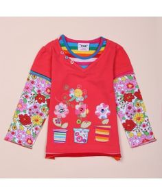 V Neck Patchwork Long Sleeve Floral Print Cute Casual Autumn t Shirts