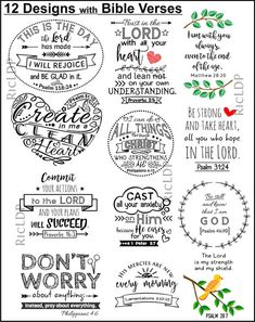 Set of 12 DIY Cornerpage Bookmarks with Bible Verses plus 12 image 4 Scripture Cards, Scripture Study, Bible Art, Bible Scriptures, Bible Quotes, Bible Verses For Kids, Kids Bible, Vinyl Quotes, Bible Doodling