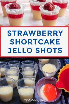 Jello Shot Cups, Jello Shot Recipes, Drinks Alcohol Recipes, Alcoholic Drinks, Party Shots Alcohol, Jello Shooters Recipe, Cake Vodka Recipes, Beverages, Dessert Recipes
