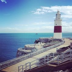 Europa Point in Gibraltar. Easy parking and larkge playing area. Awesome spot for boondocking if you have a smaller car or van. Veve seen two vans there.  #digitalnomad #travel #overland #vanlife #family #gurucamper #nomads #gibraltar #europapoint #searchlight