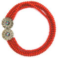 Delightful in Color necklace by Elva Fields