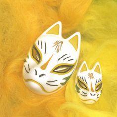 Japanese Fox Mask, Kitsune Mask, Warm Colors, Oriental, Masks, Core, Collage, Accessories, Clothes