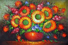 Image result for painted flower pots
