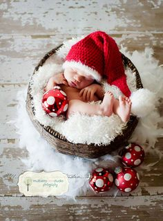 Cute first Christmas photo