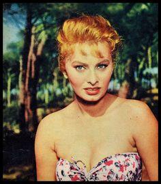 A faired haired Sophia Loren