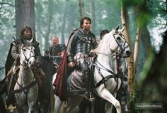 Dr Russell, a senior lecturer at Bournmouth University, studied medieval texts that featured the first detailed accounts of King Arthur. Pictured: Clive Owen plays King Arthur in the 2004 film King Arthur Movie 2004, Roi Arthur, Outlander Season 4, Horse Costumes, Arabian Costumes, Fantasy Costumes, Clive Owen, Drums Of Autumn, Hugh Dancy