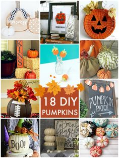 18 DIY Pumpkins! So many unique pumpkin decorating ideas! -- Tatertots and Jello