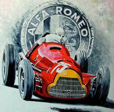 The Alfa Romeo is one of the most successful racing cars ever produced. The car was original. Alfa Romeo, Auto Poster, Car Posters, Gravure Illustration, Car Illustration, Grand Prix, Sport Cars, Race Cars, Sports Car Logos