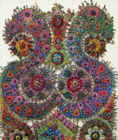 Faux-Stained Glass XXVIII embroidery by Susan Lenz