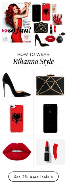 """""""rihanna in  aN ALBANIAN STYLE"""" by morena-10000000000 on Polyvore featuring Christian Louboutin, Casetify, Lime Crime and Giorgio Armani"""