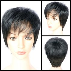 Boy Cut Side Bang Short Fluffy Straight Synthetic Capless Wig #>=#>=#>=#>=#> Click on the pin to check out discount price, color, size, shipping, etc. Save and like it!