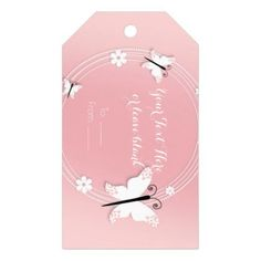 #pink - #Pink and White Butterflies & Flowers Party Favor Gift Tags