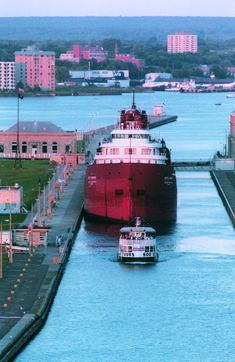 Join us in Sault Ste. Marie, Michigan in 2018 to celebrate the Soo's 350th anniversary! While you're here, check out the Soo Locks, where massive freighters traverse a 21-foot drop with the help of some amazing engineering!