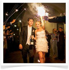 a sparkling send-off #wedding