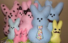 PEEP Personalized Marshmallow Bunny Stuffed by PrimitivelyAntique, $12.00 Buy 3 or more...get free shipping!