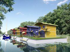 floating homes | Floating Homes - schwimmende Architektur | Architekturvisualisierung ...