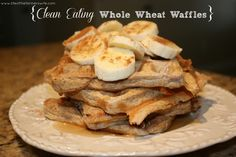 Clean Eating Whole Wheat Waffles {www.lifeofthefarnerswife.com}  Easy, simple and healthy waffles to make at home!