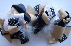 boutique FUNKY fun SCHOOL UNIFORM hair bow clips Great for my little one for school a little fashion for uniforms