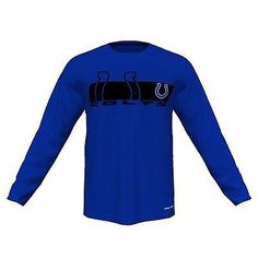 Indianapolis Colts Majestic Short Yardage VI Long Sleeve T Shirt Size 2XL
