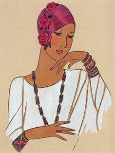 Fashion Illustration. 1928 http://www.vintagevenus.com.au/products/vintage_poster_print-g212