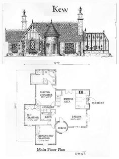 kew br 2 ba 1 story with turret entry and optional off kitchen greenhouse from storybook homes