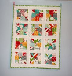 Half Moon Modern Baby Quilt by OhSewNice on Etsy, $30.00