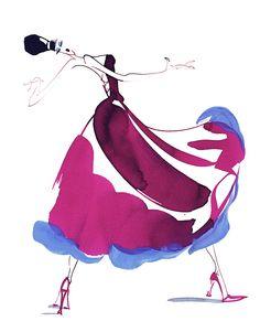 dramatic pink dress