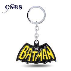 12/pcs/lot Superhero Batman Keychain can Drop-shipping Metal Key Rings For Gift Chaveiro Key chain Jewelry for cars YS10841