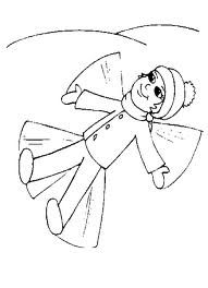 making snow angels coloring pages | Children Playing in Snow | coloring pages | Pinterest ...