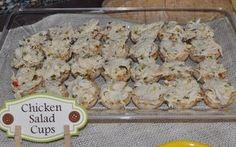 baby shower brunch recipes, chicken salad cups
