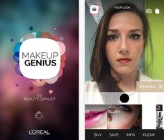 The L'Oréal Makeup Genius (free) app lets you try on the hottest makeup launches before you buy.