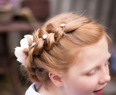 Hair Styling Glamorous First Holly Communion Hair Styling Crown Of Reversed Braids  First