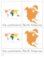 The World - The Helpful Garden Montessori  Continent three part cards