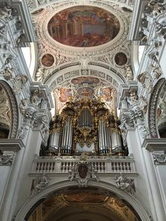 The world's biggest organ with more than 17,000 pipes in St. Stephan in Passau, Germany. This organ consists of five different organs which can be played from one central board. Their sound is amazing. And the church is gorgeous.