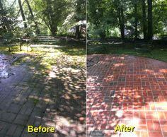 Backyard Brick Patio Power Washing Project