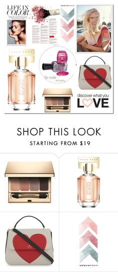 """""""Life in color**"""" by ruzi-78 ❤ liked on Polyvore featuring Clarins, HUGO, Kate Spade, Nelly, Selfridges, womensFashion and douglas"""