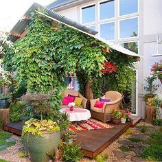 pflanzenbeete und terrassierung für kleinen garten | garten, Garten und Bauen