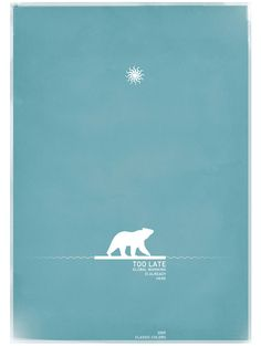 simple simple #polar #star #blue too late #poster #minimal #water