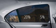 Examples of window tint I am thinking 20% to 5%
