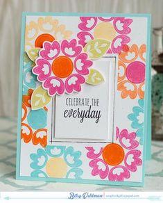 Celebrate The Everyday Card by Betsy Veldman for Papertrey Ink (December 2014)
