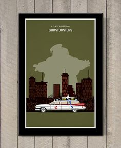 Ghostbusters+movie+poster+by+MINIMALISTPRINTS+on+Etsy