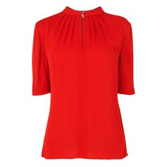 Tilly Gather Neck Top, £110, L.K.Bennett Lk Bennett, Work Wardrobe, Cool Style, Ready To Wear, Tunic Tops, London, Red, How To Wear, Clothes
