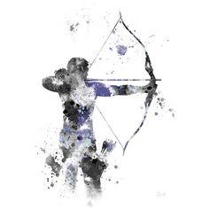 Hawkeye ART PRINT illustration, Superhero, Marvel, Avengers, Home... ($11) ❤ liked on Polyvore featuring home, home decor, wall art, superhero wall art, contemporary wall art, contemporary home decor and contemporary painting