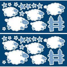 WallPops Sheep Glow-in-the-Dark Wall Decals, White