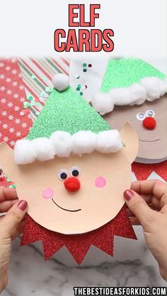 CRAFT ELF CRAFT FOR KIDS - these elf cards are adorable to make! Kids can easily make them with our free printable template too.ELF CRAFT FOR KIDS - these elf cards are adorable to make! Kids can easily make them with our free printable template too. Christmas Crafts To Make, Preschool Christmas, Christmas Activities, Kids Christmas, Halloween Crafts, Snowman Crafts, Christmas Crafts For Kindergarteners, Paperplate Christmas Crafts, Kids Holiday Crafts